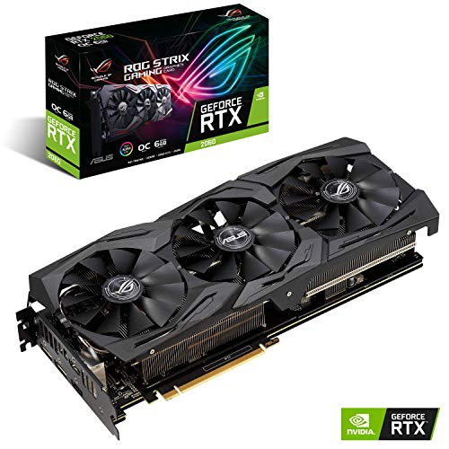 ASUS ROG -STRIX-RTX2060-O6G-GAMING GeForce RTX 2060 6 GB GDDR6 - Tarjeta...