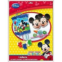 Minnie Mouse - Pack con 1 piñata, 15 party favors y 6 caretas (Verbetena 014001015)