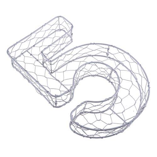 D DOLITY Drahtkranz, Rahmen, Zahl Form - Nummer 5