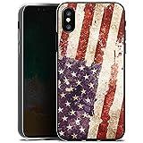 Apple iPhone X Silikon Hülle Case Schutzhülle United States of America Amerika USA Flagge