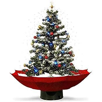 Immagini Di Natale Particolari.Mostromania Albero Di Natale Innevato Con Musica E Luci Led Decorazione Natalizia Con Neve Albero Di Natale In Miniatura Addobbi Natalizi