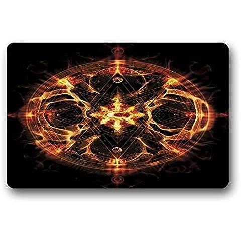 Felpudo no. 01Chimaira la edad de Hell logotipo personalizado rectángulo Entryways–Felpudo Antideslizante Interior/exterior Felpudo Alfombrilla de suelo (15,7)