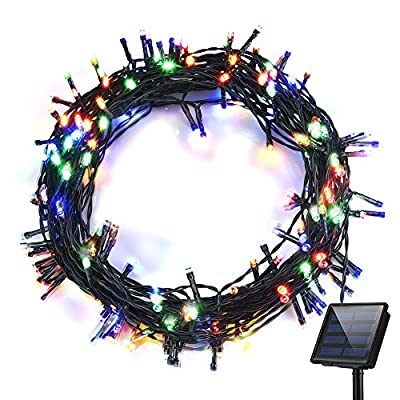 Litom Solar Lights Garden Solar Fairy Lights, 200LED Colorful Outdoor String Lights
