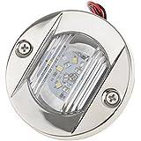 Gazechimp 1x Luz de Popa Ancla Navegación LED para Barcos Ángulo de 120 Grados Montaje Empotrado Accesorios de Automóvil Duradero Lente de Plástico Transparente