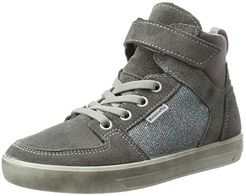 RICOSTA Mädchen Marle Hohe Sneaker, Patina/Himmel, 00038 EU