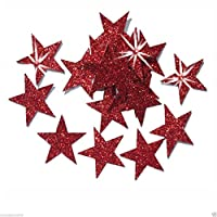 CrystalsRus 25mm Self Adhesive Glitter Star Sticker card making craft Diy christmas
