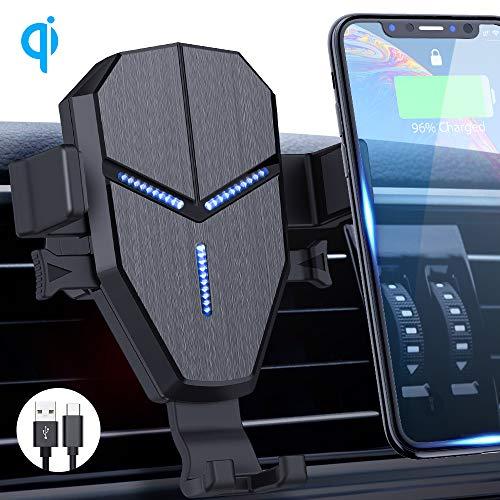 Avolare Qi Handy Halterung für Auto Wireless Charger 10W mit Ladestation Lüftung KFZ Handyhalterung mit Ladefunktion für iPhone XS/X/8 Galaxy S10/S10+/S9/S8 & andere Qi Geräte