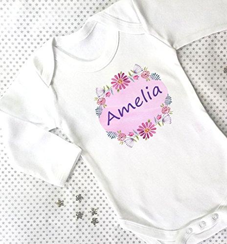 Baby Mädchen Geschenk, Baby Geschenke, mit Geschenk-Box, Baby Grow, Mädchen Baby Kleidung, Name personalisiert hinzugefügt, Viola (Personalisierte Name-baby-kleidung)