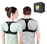 Modetro Sports Posture Corrector Spinal Support - Physical Therapy Posture Brace for Men or Women - Back, Shoulder, and Neck Pain Relief - Posture Trainer