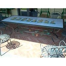 Tavoli In Ferro Da Giardino Usati.Amazon It Tavolo Ferro Battuto Giardino