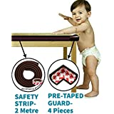 KidDough Baby Proofing Safety Strip and Corner Guard | Extra Thick Safety Soft Cushion Edge Corner Protector Guard | Table Corner Guard | Corner Protector | Baby Proofing