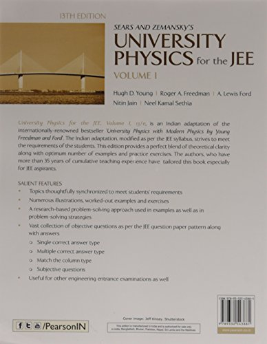 University Physics for the JEE Vol. 1