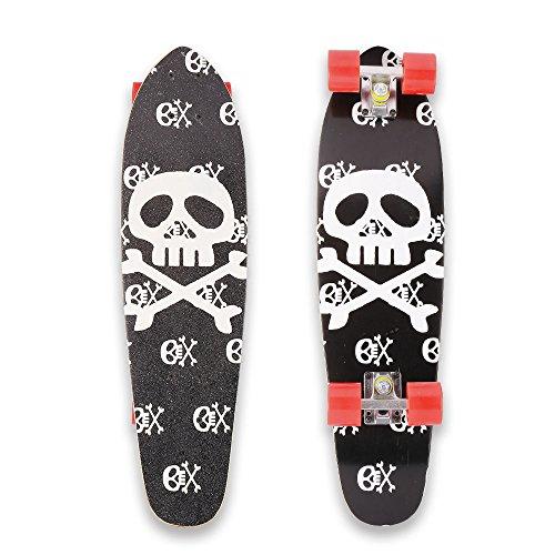 WeSkate 71cm Skateboard Komplett Mini Cruiser Vintage Fertig Montiert Skate Board mit rutschfestem Deck, aus 9-lagigem kanadischem Ahornholz für Kinder Erwachsene