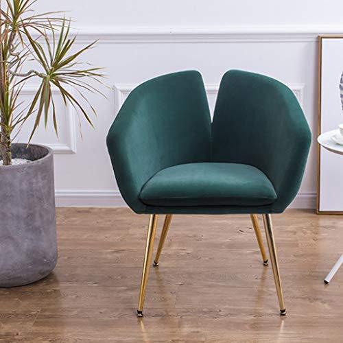 Mid-Century Akzent Sessel Vintage Club Sitz für Wohnzimmer Moderne zeitgenössische gepolstertes Sofa mit Metallrahmen Möbel Womens Accent Chair (Farbe : Grün) -