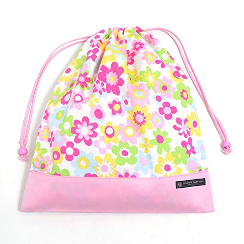 Made in Japan Flower Light bag clothes gymnastics Re drawstring purse, large gym clothes input (japan import)