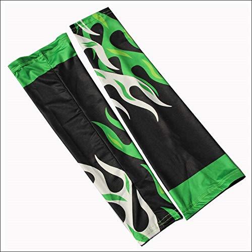 LQRYJDZ Unisex-Sportanzug Reitausrüstung UV-Schutz Sonnenschutz für Outdoor-Arm-Laufschuhe beim Jogging-Bergsteigen (Color : Green)