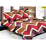Choice Cotton Double Bedsheet With Pillow Cover Combo(Multi)