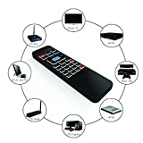 Tripsky P3 retroilluminato 6-axis 2.4 GHz mini tastiera wireless Air mouse telecomando portatile, 3-gyro + 3-gsensor per Google Android TV/Box, Iptv, HTPC, Windows, Mac.