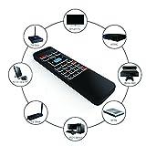 Tripsky P3 6-Achsen 2,4 GHz Mini-Fernbedienung mit Hintergrundbeleuchtung, tragbar, kabellos, Air Maus und Tastatur, 3-Gyro und 3-Gsensor für Google Android TV / Box, IPTV, HTPC, Windows, MAC OS, PS3