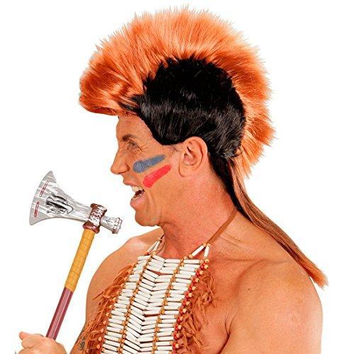 Rocker Perücke Punk Kostüm - NET TOYS Irokesen Perücke Indianer Punk Indianerperücke Irokese Häuptling Mohikaner Indianerperücke Punkperücke Haarteil Irokesenperücke Iro Punk Rocker Kostüm