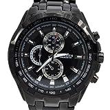 OrrOrr WG000061-DE - Herren-Armbanduhr, Armband aus Edelstahl, Schwarz