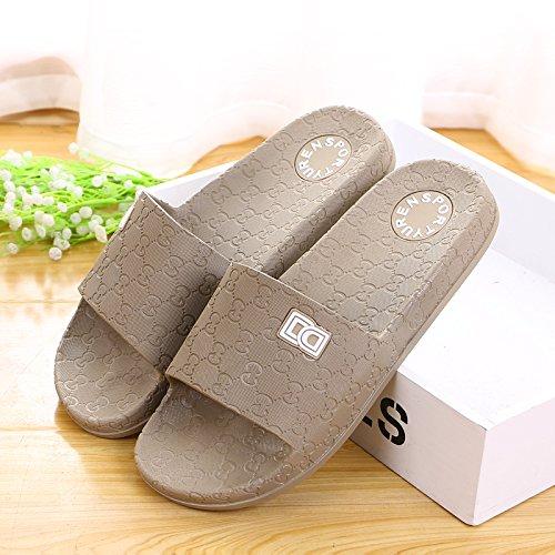 amanti delle pantofole a casa le pantofole, antiskid estate plastica spessa base,41 mei hong 42 della carta verde