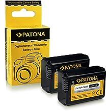 2x Batería NP-FW50 para Sony NEX-3 | NEX-3A | NEX-3D | NEX-3K | NEX-5 | NEX-5A | NEX-5D | NEX-5H | NEX-5K | NEX-6 | NEX-7 | Sony Alpha: 33 (SLT-A33) | 37 (SLT-A37) | 55 (SLT-A55)