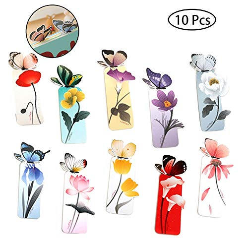 n Butterfly Style des Lehrers Geschenk-Buch-Markierung Briefpapier-Geschenk Realistische Nette Kawaii Karikatur3d Lesezeichen (Zufällige Farbe) ()