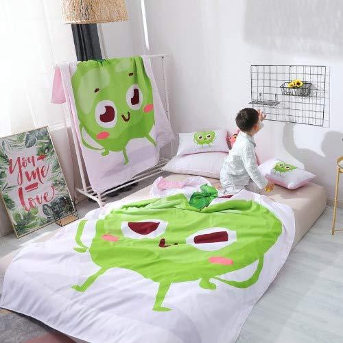 AIMHOME Gedruckte Tomate Reversible Kids 'Tröster Kleinkind Sommer dünne Decke für Erwachsene Twin Bettwäsche Set 120x150cm 120x150cm Quilt nur Apple (Kids Schlafzimmer Twin Set)