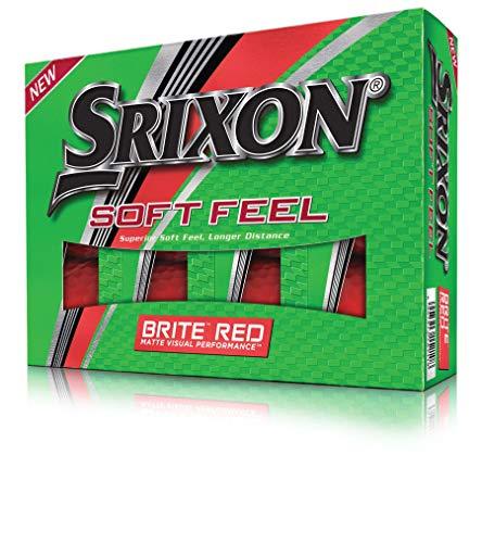 Srixon Soft Feel Brite Golfbälle, matt, 1 Dutzend, Unisex-Erwachsene, Soft Feel Brite, rot