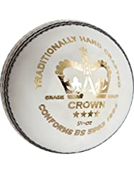 GRAY-NICOLLS–Corona 4Star deportes de críquet Match cosida a mano, 156G), blanco, 5.5oz