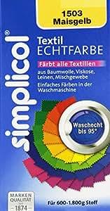 Simplicol 1503 Textil-Echtfarbe, flüssig, Maisgelb, 150 ml
