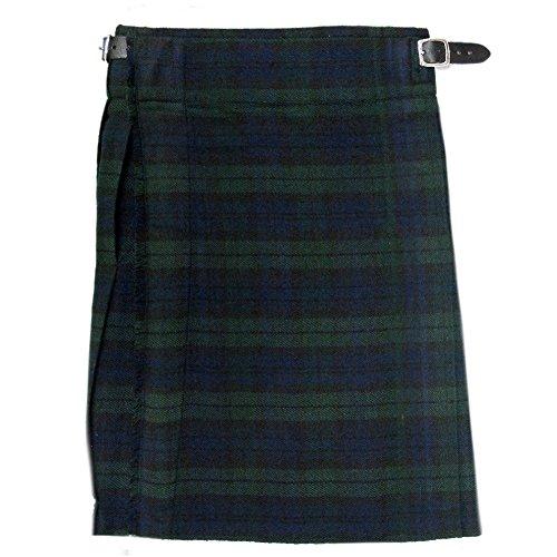 Tartanista - Jungen Scottish-Highland-Kilt - hochwertig - Black Watch-Tartanmuster - Taille - 61 cm (24