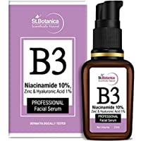 StBotanica B3 Niacinamide 10% Face Serum + Zinc & Hyaluronic Acid 1% Professional Face Serum, 20 ml