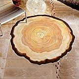 VICGREY ❤ Tappeto Rotondo, Area Tappeto Soggiorno Camera da Letto Bagno Cucina Tappetino Decorazioni per la casa S:60cm/ M:80cm