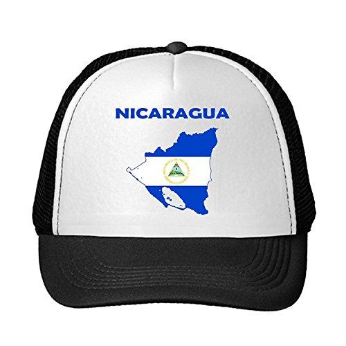 ros Nicaragua Nicaragua Flag Adjustable Trucker Hat Cap Black (Black Flag Alle Kostüme)
