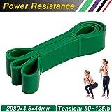 AIDUE Bande Elastique de Résistance Fitness, Bande Latex Bande d'Entraînement pour Musculation Crossfit Pilates Yoga et Physiothérapie (50-125LB)