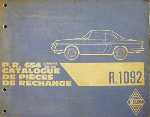 Catalogue de pices de rechange PR 654 de la Floride type R 1092. Dernire dition 1962