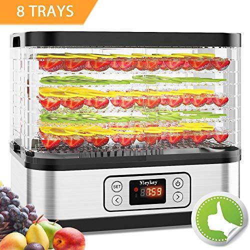 Eine Etage (Dörrautomat mit Temperaturregler, Dörrgerät für Lebensmittel, Fleisch Frucht Gemüsetrockner, Dehydrator, BPA-frei, 8 Etagen/400W)