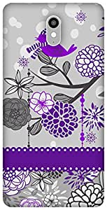 The Racoon Lean Purple Sparrow Song hard plastic printed back case / cover for Lenovo Vibe X3