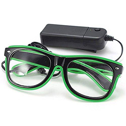 LED-Licht Brille - SODIAL(R)LED-Licht Brille Party Spielzeug Brille - 2 Und Halloween Town 1