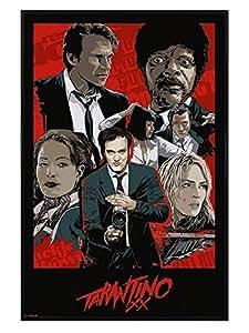 Film Poster encadré Quentin Tarantino XX noir brillant 61x 91,5cm
