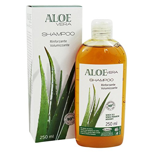 NATURA' - Shampoo Rinforzante Volumizzante all'Aloe Vera - Delicato - Migliora la Struttura del Capello - Purificante e Lenitivo - 250 ml