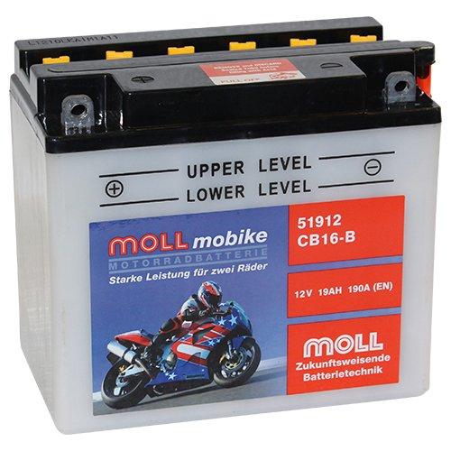 Moll mobike Motorradbatterie CB16-B 19Ah 12V 190A - 51912SM