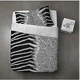 Zebra–Juego de funda de edredón y 2fundas de almohadas 100% algodón–220x 240cm