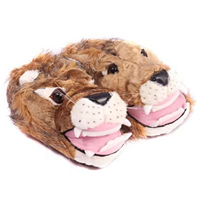 Hengst 986722 Men's Lion Slippers Brown Size UK10-11/EU44