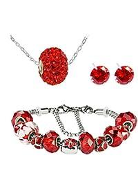 Collier bracelet et boucles d'oreilles swarovskiпїЅ elements