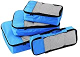 Walletsnbags Blue Set Of 4 -Small .Medium , Large And Slim Packing Organizer