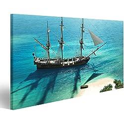 Cuadro decorativo de barco pirata formato grande.