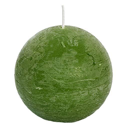 Spaas - Velas esféricas (6 Unidades, 100 mm de diámetro, Cera de parafina, Aroma a Verde Oliva)